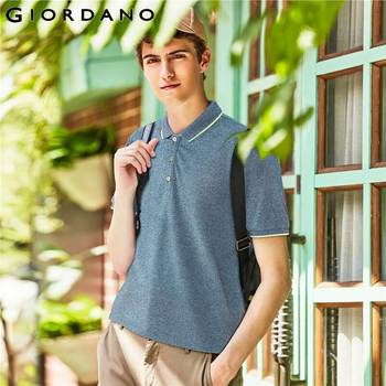 Giordano homme Polo solide homme piqué Slim homme Polo basique essentiel hauts homme Camisa Polo Camiseta Masculina