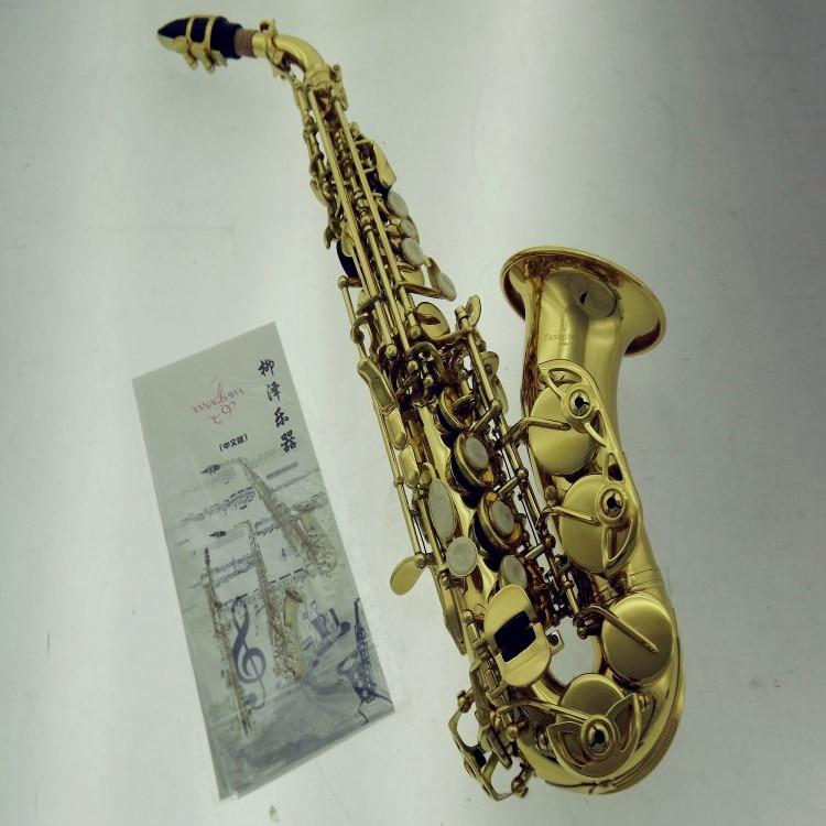 YANAGISAWA Curved Soprano Saxophone YANAGISAWA S991 Gold Brass Sax Professional Mouthpiece Patches Pads Reeds Bend Neck