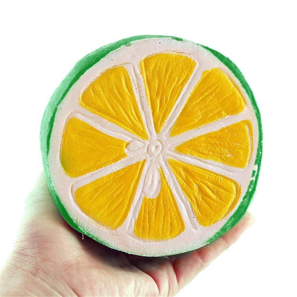2019 Hot Sale 10CM Jumbo Half Fresh Lemon Slow Rising Scented Charms Kawaii Squeeze Toy    6.10