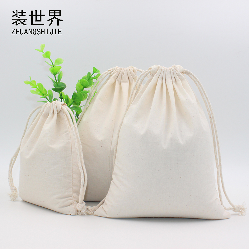 2pcs/lot 24*32cm Cotton Pouch Storage Bag Custom Logo Printed Drawstring Bags Candies Food Cookie Packaging Christmas Pouch