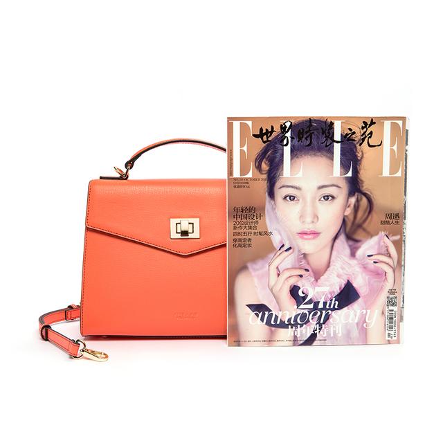 JESSIE & JANE New Arrival Fashion Split Leather Women Satchel Bag Shoulder Bag Top-Handle Bags 1732