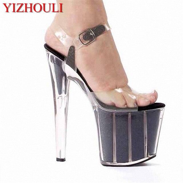 626bbbbfcbf Must Buy Item! 20cm Sexy Super High Heel Crystal Sandals