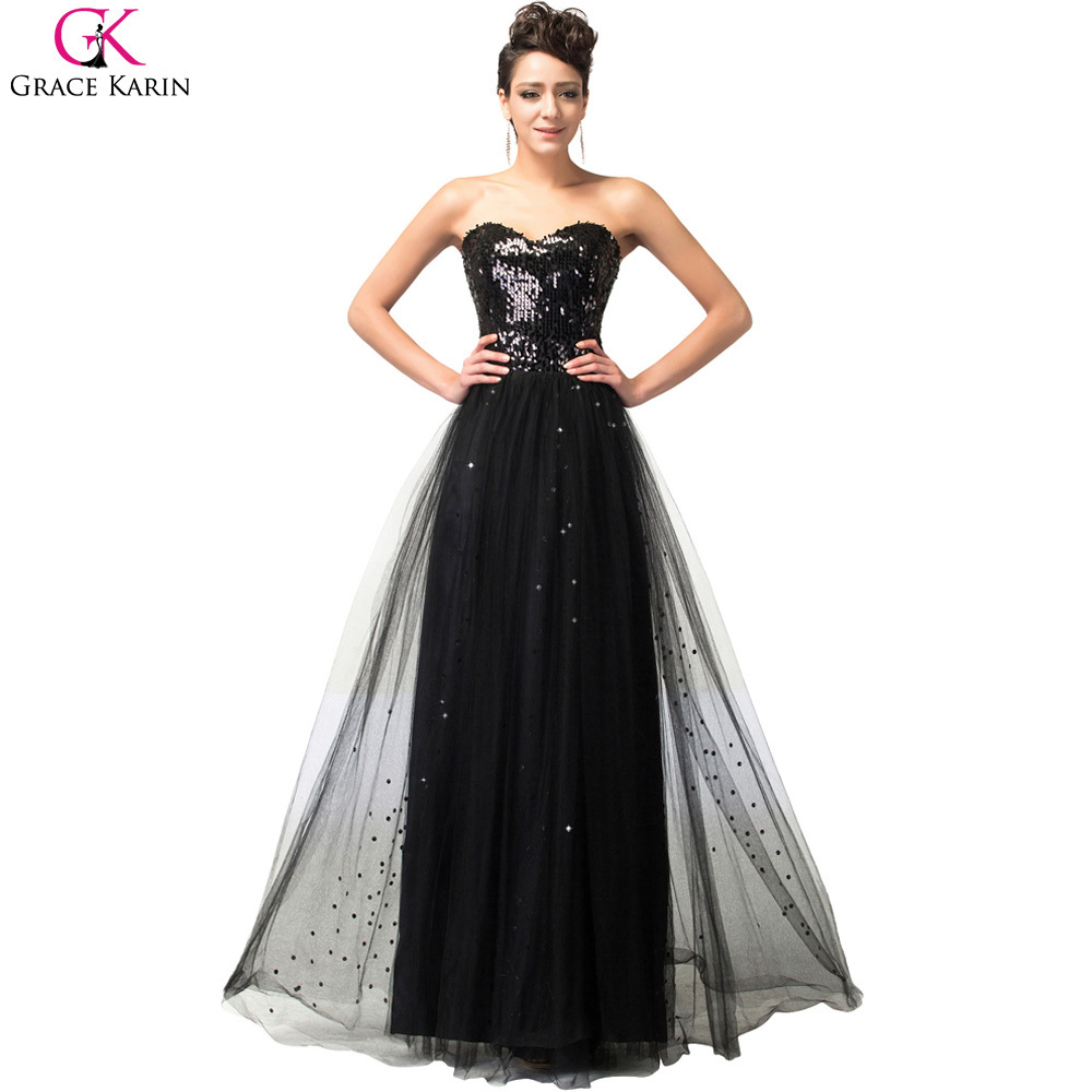 Popular sparkly strapless wedding dresses buy cheap sparkly grace karin prom dresses gold sequin strapless sparkly tulle elegant long formal gowns special occasion blue ombrellifo Choice Image