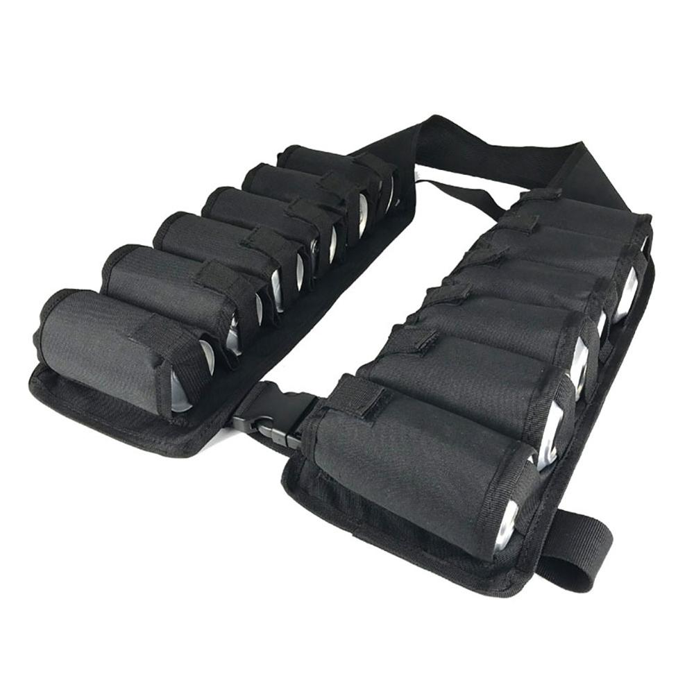 Image 4 - 12 Pack/A Dozen Beer Waist Belt Vest Breathable Portable Detachable Shoulder Carry Bag Beverage Drink Can Holder Outdoor Tool-in Outdoor Tools from Sports & Entertainment