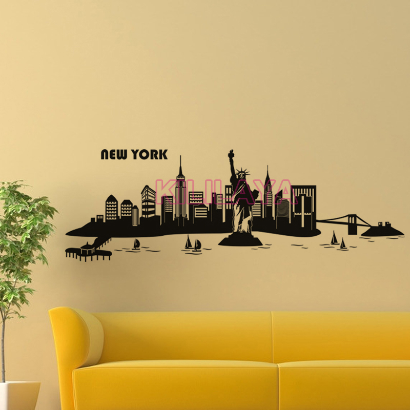 Old Fashioned New York City Wall Decor Motif - Wall Art Collections ...