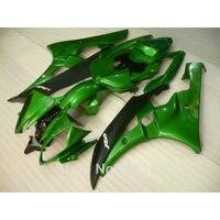 Injection molding full fairing kit for YAMAHA YZF R6 2006 2007 matte black green fairings set YZF R6 06 07 NB026