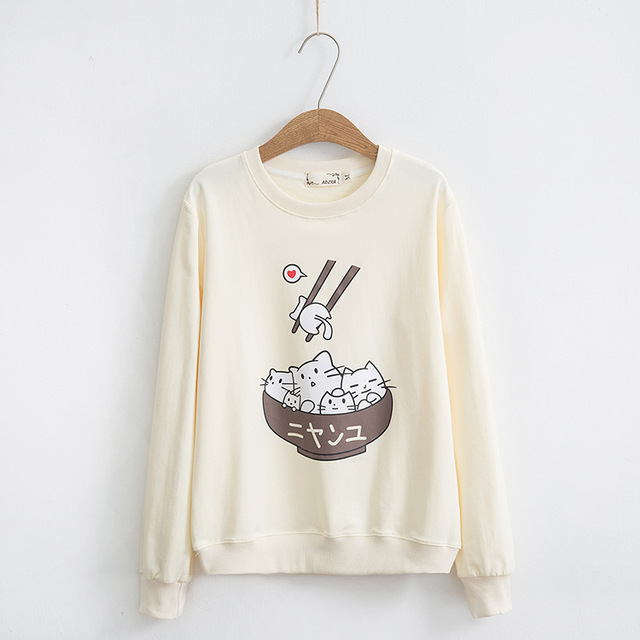 Cute Cats Printed Sweatshirt for Women