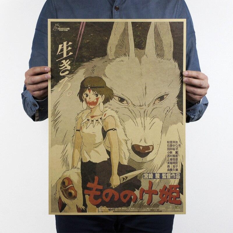classic cartoon kraft Bar Counter Retro Kraft Paper Poster 2019 Naruto