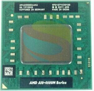 AMD ordinateur portable Mobile A10 4600 M A10-4600m AM4600DEC44HJ d'origine Socket FS1 (FS1R2) CPU 4 M Cache/2.3 GHz/Quad-Core processeur