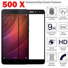500pcs 2.5D 0.3mm Tempered Glass Screen Protector Full Cover Arc Round Edge LCD Saver Film for Redmi 4X Xiaomi 6 Max 5C 5X Note(China)