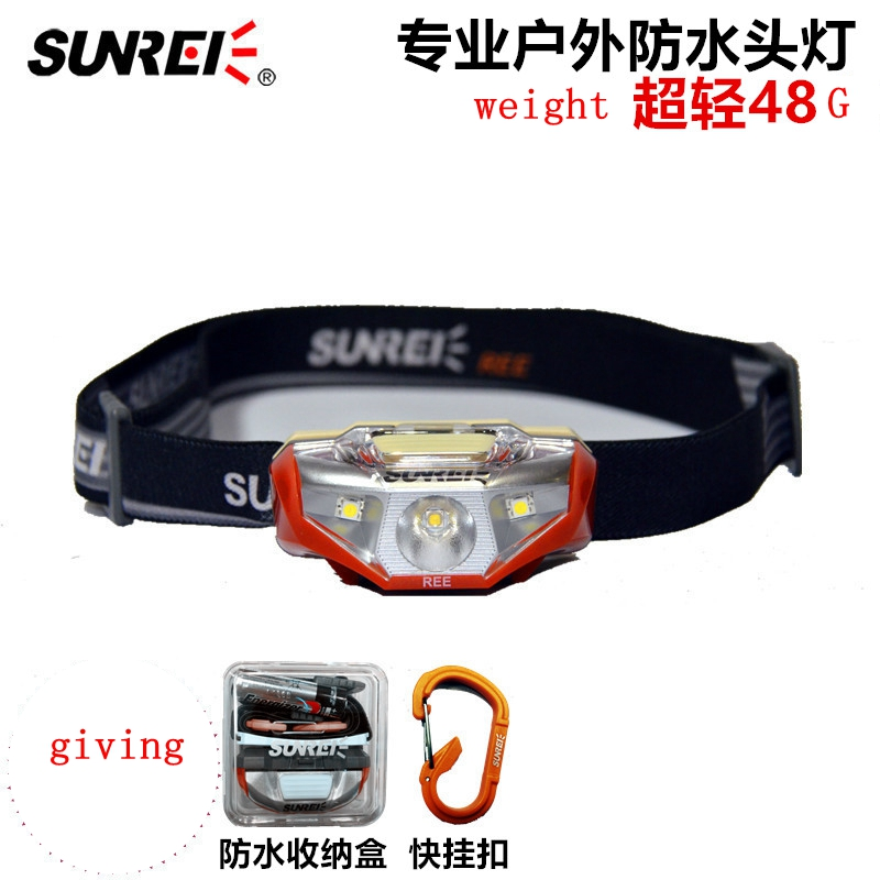 SUNREE 120Lm CREE XTE-R2 White LED Light Weight Motile Headlamp AA Headlight For Outdoors налобный фонарь sunree l40 ipx8 4led