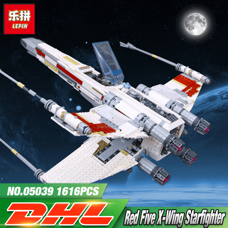 LEPIN 05039 Star Model Wars 1586Pcs Red Five X Starfighter wing Education Building Blocks Bricks toy legoing 10240 for Boy gifts lego education 9689 простые механизмы