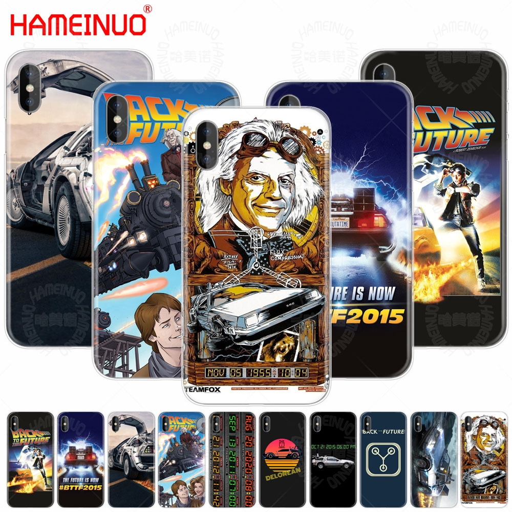 HAMEINUO Delorean Back To The Future time machine cell phone Cover case for iphone X 8 7 6 4 4s 5 5s SE 5c 6s plus