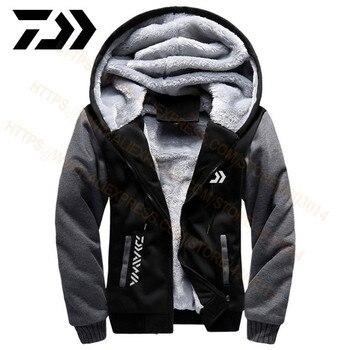 2020 Daiwa Angeln Kleidung Hoodies Outdoor Sweatshirt Mit Kappe Lose Fleece Warme Jacke Männer Angeln Kleidung Mit Kapuze