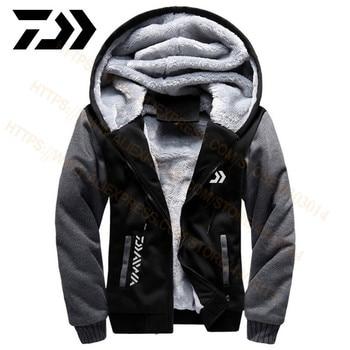 2020 Daiwa Fishing Clothes Hoodies Outdoor Sweatshirt With Cap Loose Fleece Warm Jacket Men Fishing Clothing With Hood