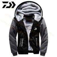 2020 Daiwa одежда для рыбалки толстовки уличная толстовка с кепкой свободная Флисовая теплая куртка мужская одежда для рыбалки с капюшоном