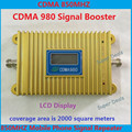 Direct Marketing High Gain LCD Display CDMA980+850Mhz Coverage2000square Mobile phone CDMA Booster Repeater Free drop shipping
