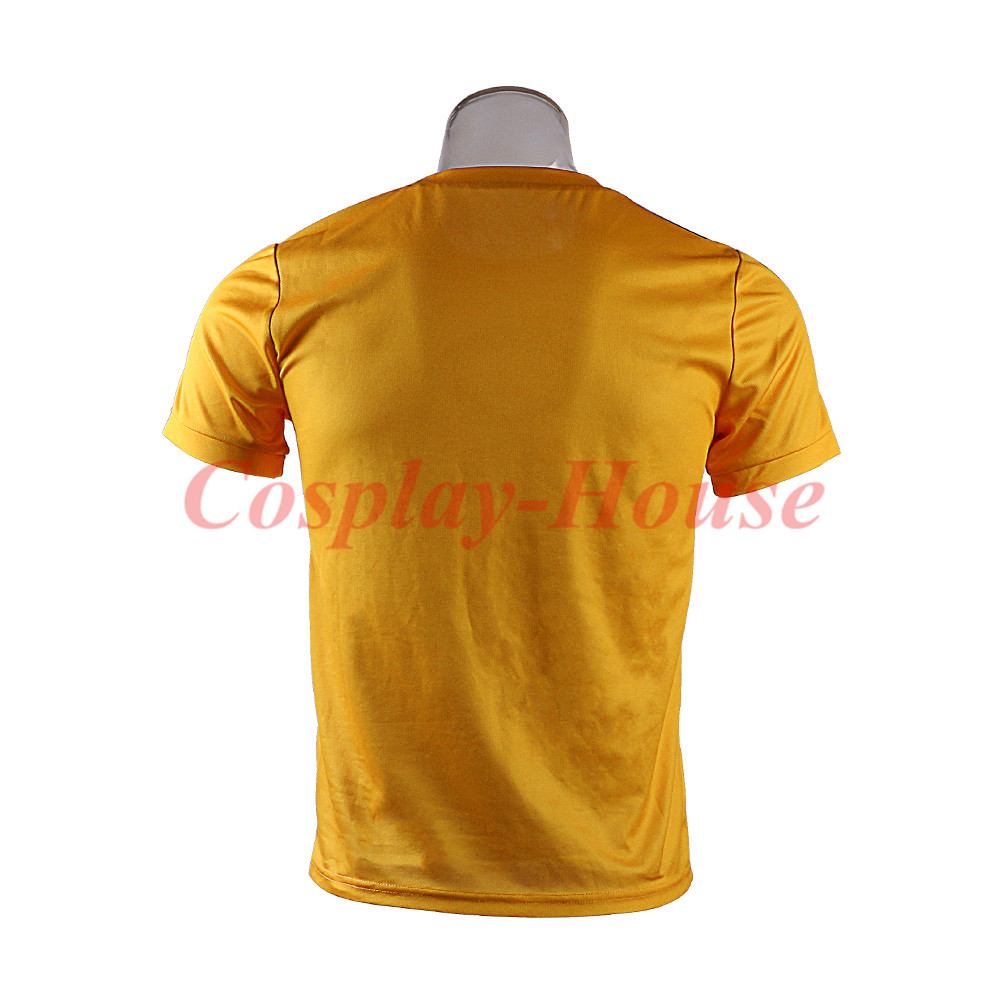 2018 Movie Deadpool 2 Superhero Yellow Polyester Short Sleeve Cosplay T-shirts
