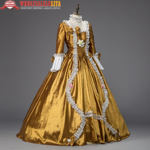 Georgian Period Christmas Ball Gown Marie Antoinette Renaissance Holiday  Dress Theater Clothing 485ec5835a51
