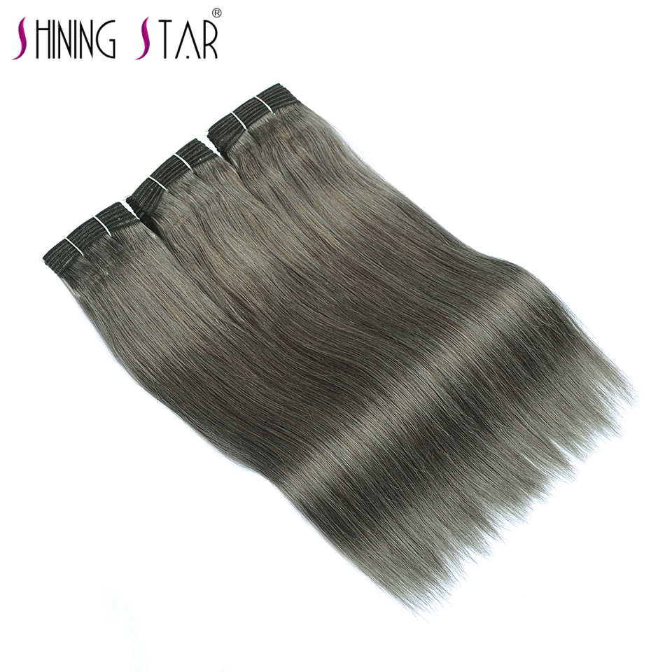 Linen Gray Peruvian Straight Hair Bundles 100 Human Hair Weave 3 Bundles Deal Hair Extension Shining