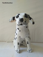 large 42cm squatting dalmatian dog plush toy soft doll birthday gift b1959