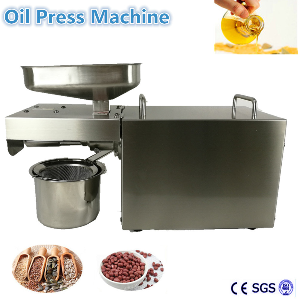 Free Shipping Multifunctional  Household oil  press machine Seed Nut Presser Extractor Expeller High Extraction design and construction of jatropha seed oil extracting machine