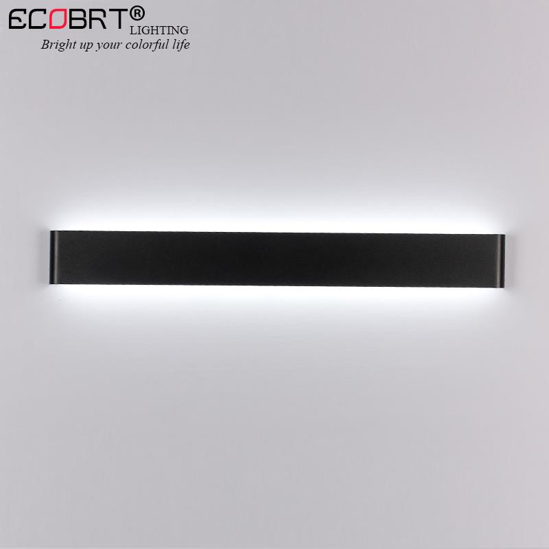Aluminum LED Bar Lights Wall Mounted in Bathroom 24W 72cm 100-240V Decoration White / Black Sconces Wall Lights Indoor lighting
