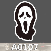 A0107 mask horror Alien Sign waterproof pvc suitcase box laptop guitar luggage skateboard bicycle toy lovely stickers(China)