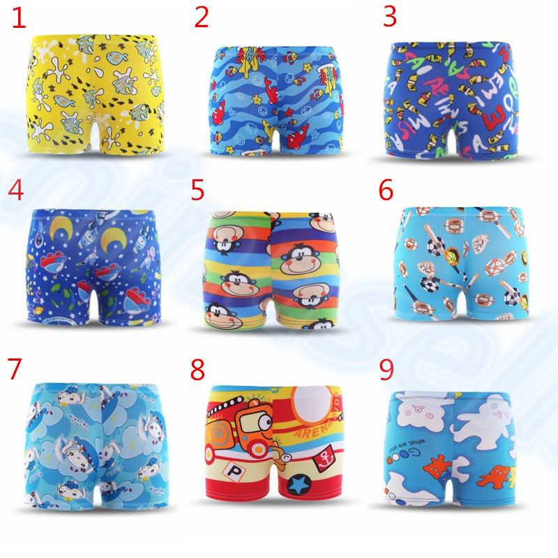 2-6 Years Adjustable Cartoon Children Swimming Trunks Marine Animals Stars Child Boy Swimming Trunks Briefs Pants