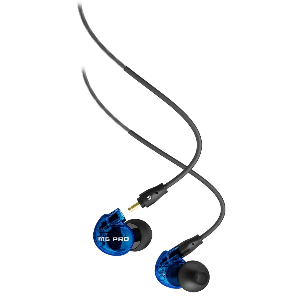 Newest color MEE Audio M6 PRO Noise Canceling 3.5mm HiFi In-Ear Monitors Earphones with 2 Detachable Cables Free shipping original mee audio pinnacle p1 audiophile bass hifi dj studio monitor music in ear earphones w detachable cable vs pinnacle p2