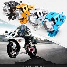 6000K motorcycle headlight off road motorbike led spotlight 12-80v U5 DRL LED Fog Lamp auxiliary lamp