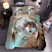 LOVINSUNSHINE 3D baskılı yatak seti Kral Yorgan nevresim takımı Kraliçe Yorgan yatak örtüsü seti SD02 #