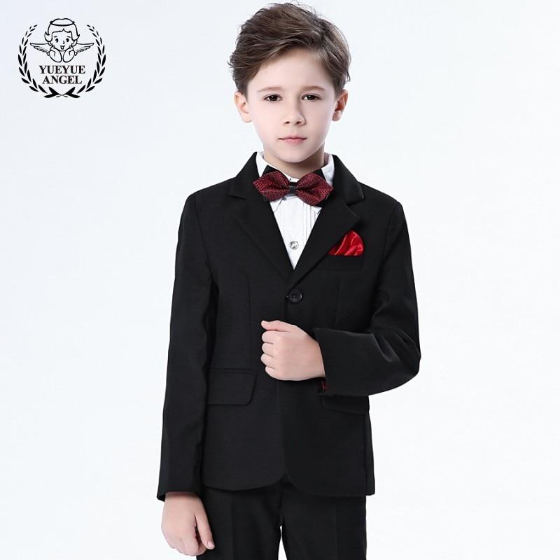 224e0109e0 Hot Brand Formal Suit Child Boys Suits Weddings Suit Trousers Bow Tie Shirt  Spring Black Blue