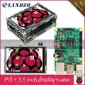 """Raspberry Pi 3 Modelo B Board + 3.5 """"Tela de Toque Lcd com Stylus + Caso para Raspberry Pi Acrílico 3 kit Frete Grátis"""
