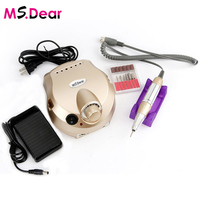 Golden Electric File Bit Machine For Nail Drill Manicure Pedicure Kit Pro Salon Home Nail