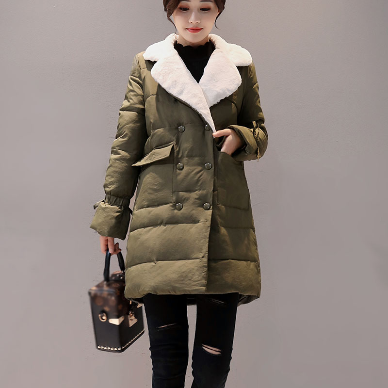 2017 New Autumn Jacket Parka Women Winter Coat Warm Outwear Cotton-Padded Long Jackets Coats High Quality Double breasted high quality new winter jacket parka women winter coat women warm outwear thick cotton padded short jackets coat plus size 5l41