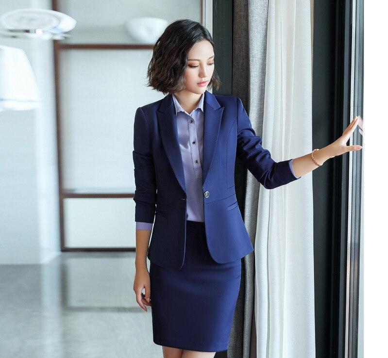 Bureau Vestes Dames Formelles Travail Entaillé Fit Blazer Abrigo 2018 Slim blue Mujer Manteau Black Feminino Blazer Manteaux Femmes x1wvx5q0R