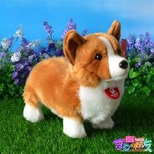 Cute Corgi Dog Plush Toys Simulation Animal Corgi Doll Gifts For Children