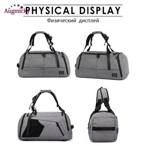 Image 5 - 男性女性スポーツバックパック靴収納袋トレーニングヨガ旅行ドライ、ウェット多機能ハンドバッグ盗難防止バックパック