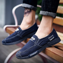 Mens Casual Shoes 2019 Fashion New Denim Non-slip Canvas Brand Design Summer Breathable Sports OLOMM