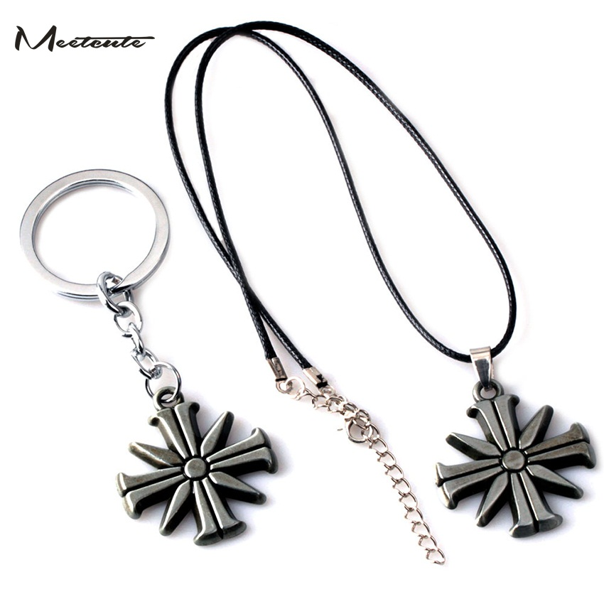 Meetcute 2018 New Game Far Cry 5 Pendants Necklaces Eden's Gate Chocker Farcry 5 Cult Sunflower Keyring Game Fans Gift image