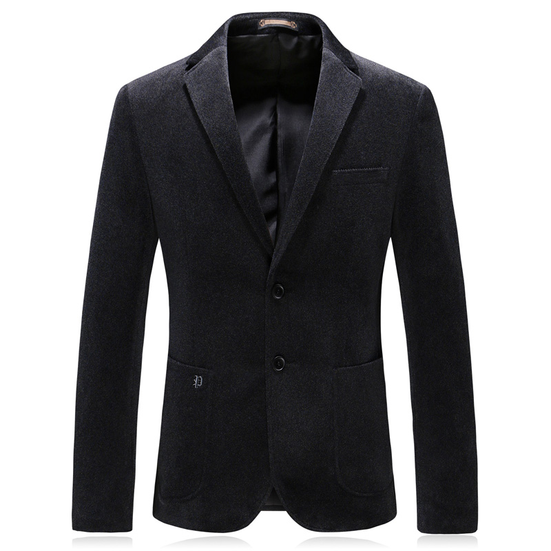 MarKyi 2018 winter wool men 39 s classic jacket double breasted man blazer casual suit jacket good quality in Blazers from Men 39 s Clothing