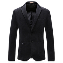 double breasted man blazer casual suit jacket good quality 2018 winter wool mens classic