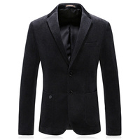 double breasted man blazer casual suit jacket good quality 2018 winter wool men's classic jacket