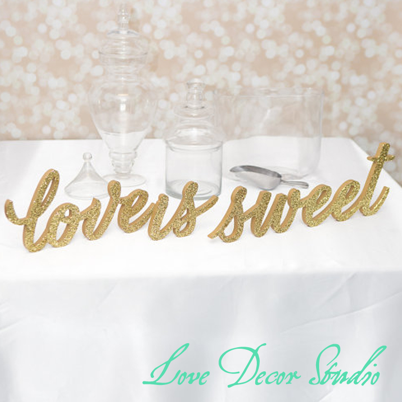 Freestanding Love Is Sweet Sign Set Wedding For Candy Desser Or Table Decor Wooden Signs In Party Diy Decorations From Home