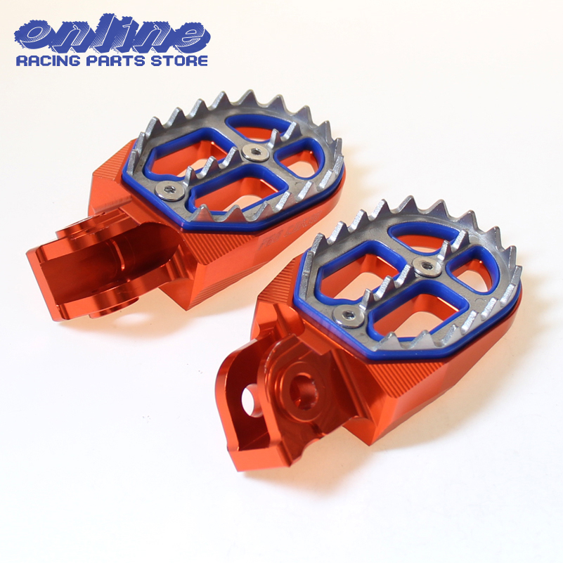 CNC Billet MX Foot Pegs Rests Pedals For 65 85125 250 300 450 525 KTM EXC SX SXF XCF SMR Motorcycle Motocross цена