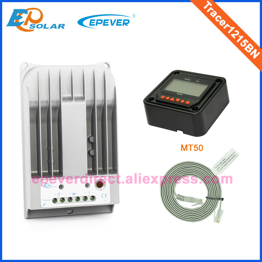 Tracer1215BN EPEVER EPsolar MT50 remote Meter Solar 12V 24V panels home small system 10A 10amp Free shipping to Asia country 12v 24v auto work tracer1215bn for 12v 130w solar panel home system use 10a 10amp with wifi function usb cable and mt50