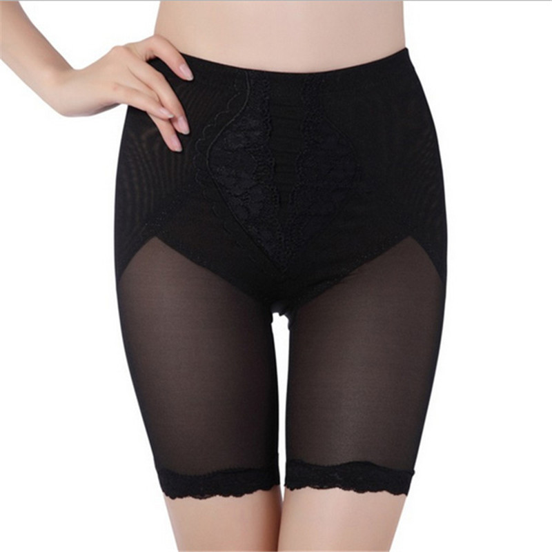 ZALA Rainbows Store Waist Women 2 Colors Tummy Control Shapewear Slim Short Leggings Lace Underwear ZU98