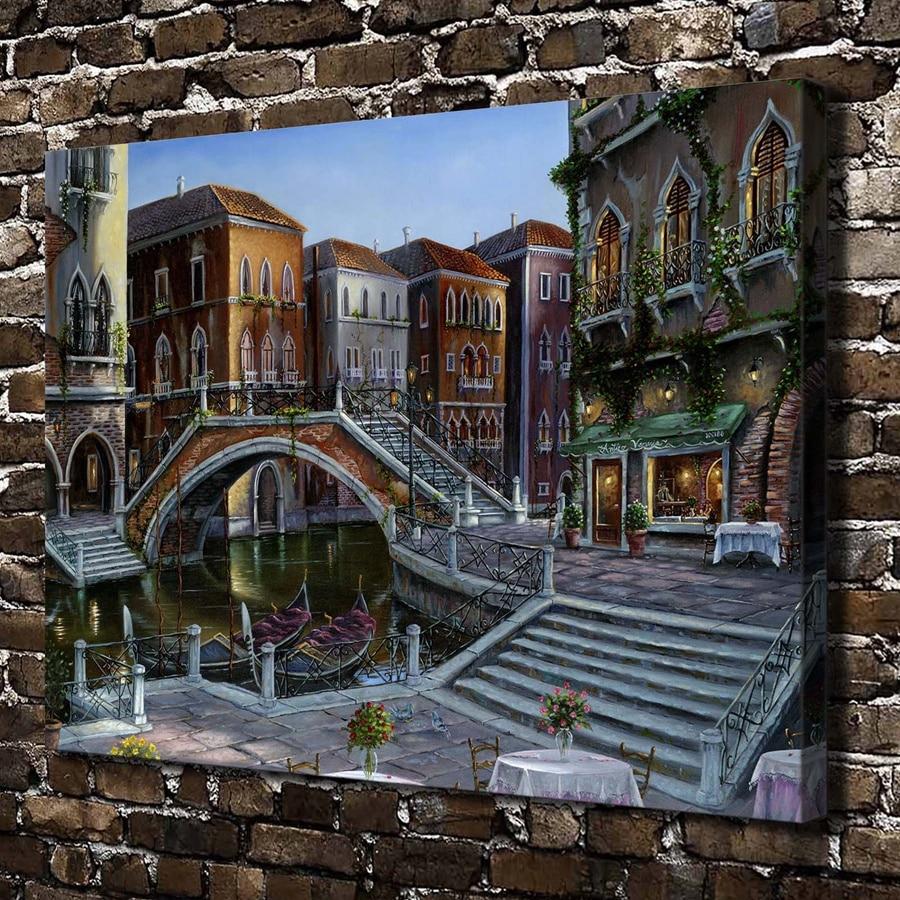 ᐂ1165 Sunrise veneciano Robert Finale paisaje. HD Canvas Print ...