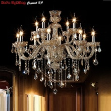 12 Light Luxury Large Crystal Chandelier  fashion lights living room lighting